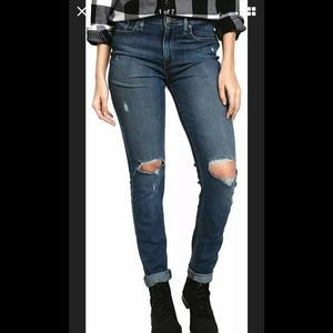 Levis 721 High Rise Sz 27 Skinny Distressed Jeans